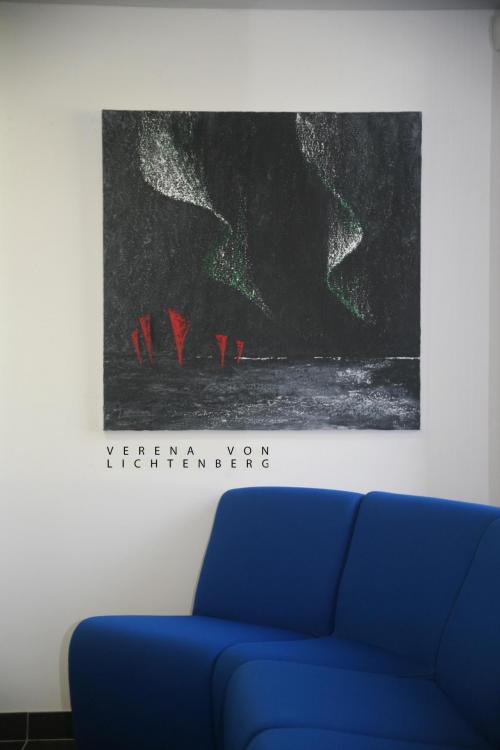 Die ausstellung der bilder un gemalde der malerin verena von lichtenberg in saint quentin en yvelines