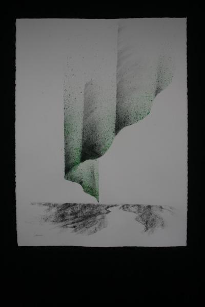 E verena von lichtenberg artiste peintre et les lumieres du ciel aurores boreales