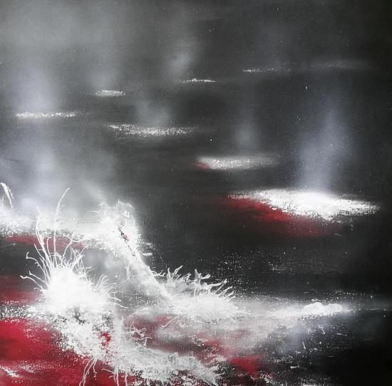Eruption tableaux d art verena von lichtenberg artiste peintre blutrot 0011 100