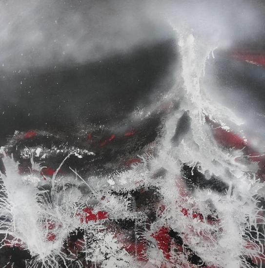 Eruption tableaux d art verena von lichtenberg artiste peintre blutrot 0012 80
