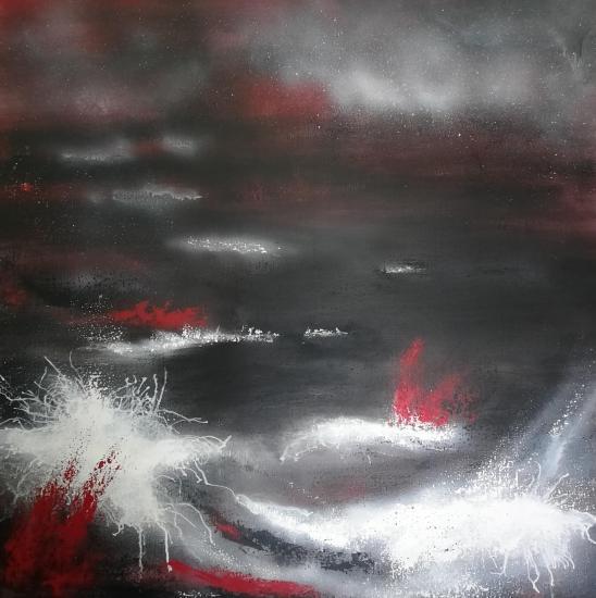 Eruption tableaux d art verena von lichtenberg artiste peintre blutrot 003 100