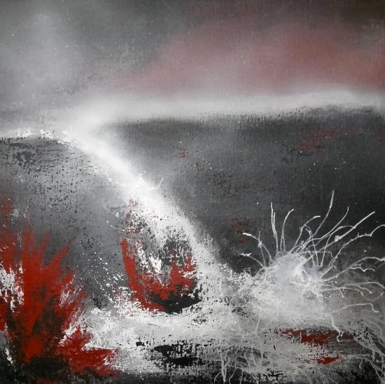 Eruption tableaux d art verena von lichtenberg artiste peintre blutrot 006 60
