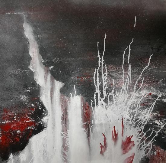 Eruption tableaux d art verena von lichtenberg artiste peintre blutrot 013 80