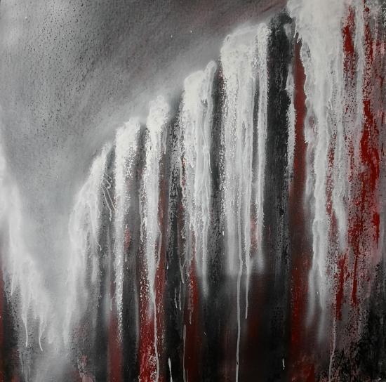 Eruption tableaux d art verena von lichtenberg artiste peintre blutrot 014 80