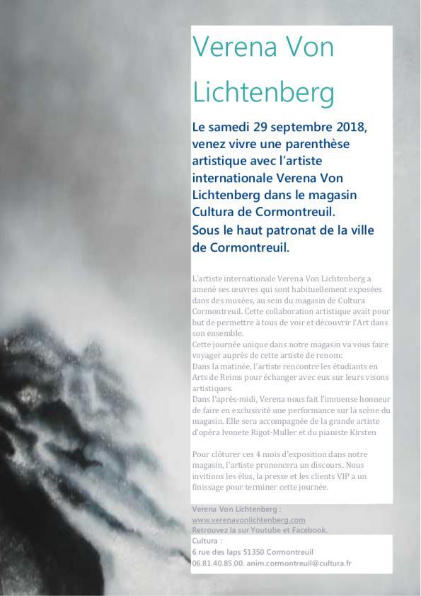 Exposition d art et de peinture cultura france sortons l art des muse es et des galeries avec les oeuvres d art et peinture de l artiste peintre verena von lichtenberg de paris