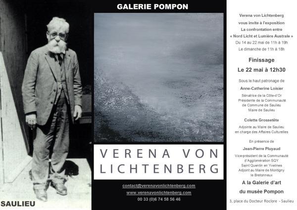 Finissage l exposition d art de l artiste peintre verena von lichtenberg a la galerie d art du musee pompon des oeuvres d art et tableaux des musee de france 2