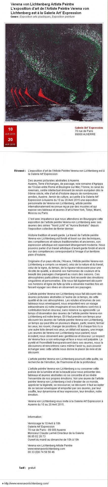 I nord licht die ausstellung der artiste peintre verena von lichtenberg in der kunst galerie art expression des tableaux et oeuvres d art