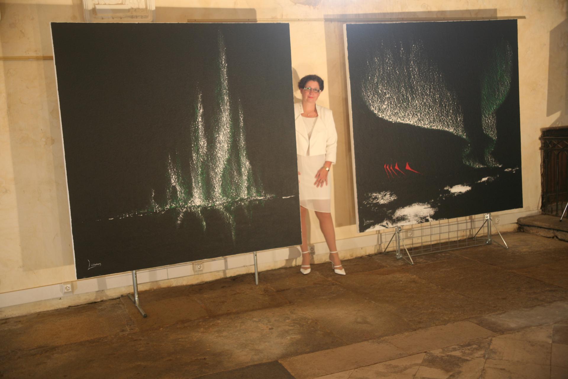 In saulieu die ausstellung der malerin verena von lichtenberg ihre werke nord licht