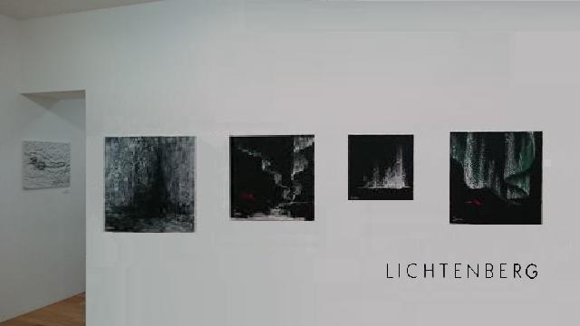 L artiste peintre verena von lichtenberg elle est son esposition d art a tokyo galery k des oeuvres d art et peintures moderne