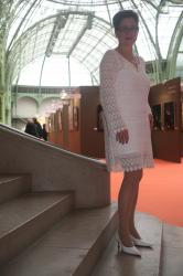 L artiste peintre verena von lichtenberg est au grand palais a paris avec l exposition d art nord licht