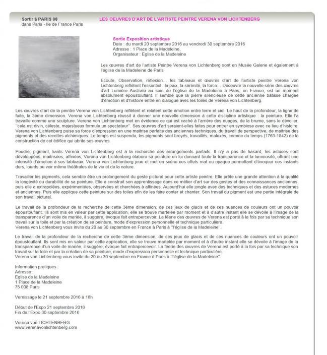 L exposition d art contemporaine verena von lichtenberg artiste peintre presente dans les musee galerie d art lien avec miro hundertwasser