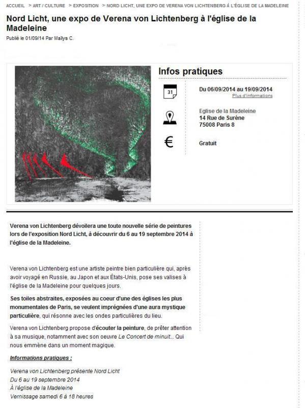 Les oeuvres d art de l artiste peintre verena von lichtenberg et les tableaux nord licht 1