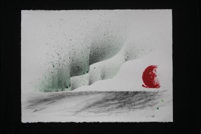 M verena von lichtenberg une artiste peintre a paris et les tableaux nord licht aurores boreales