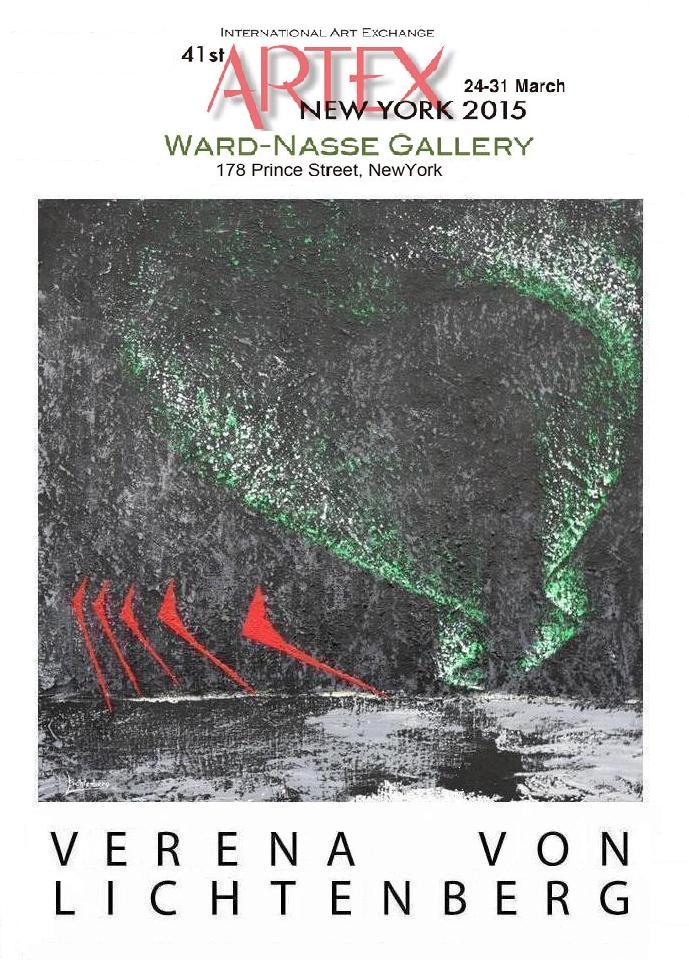 New york art fair the painter verena von lichtenberg and the exhibition nord licht