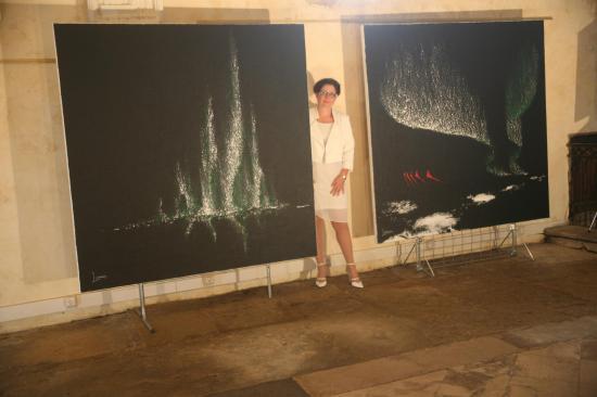 Saulieu une exposition d art de l artiste peintre verena von lichtenberg avec les oeuvres d art et peintures nord licht