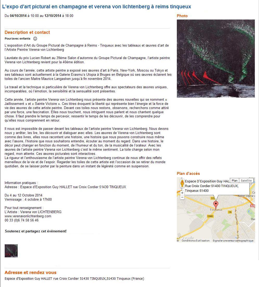 Tinqueux reims une exposition d art avec verena von lichtenberg 1