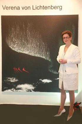 Verena von lichtenberg artiste peintre a paris une exposition d art ses oeuvres d art et peintures au louvre