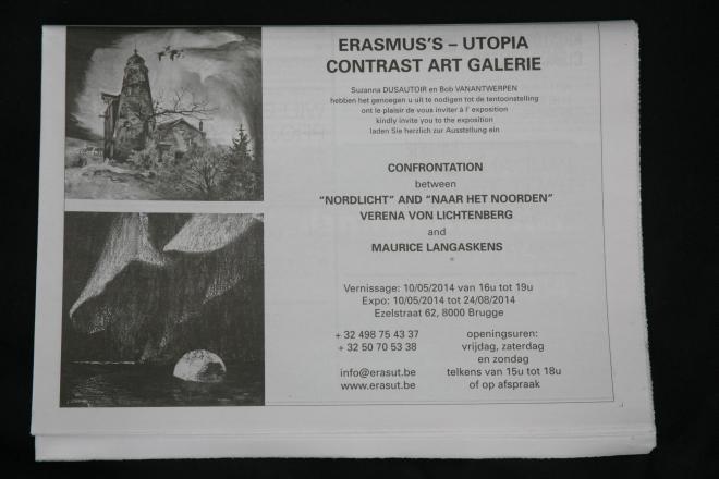 Verena von lichtenberg uthe painter is in brugge galerie erasmus s utopia art galerie