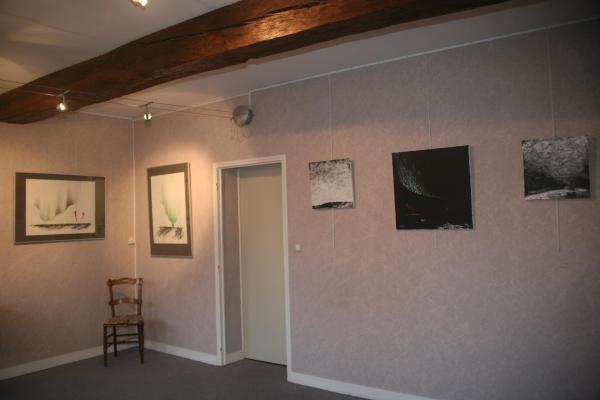 Verenav von lichtenberg die kunstlerin und malerin aus paris ist in der bourgogne in der galerie art expression von claude larrive