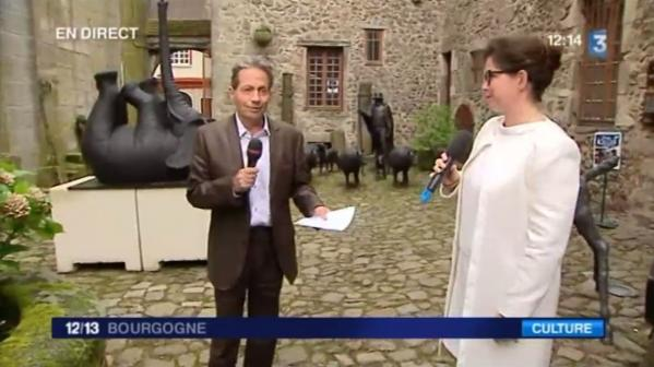 Vvl 1 france 3 bourgogne francois marie lapchine mit der malerin verena von lichtenberg eine kunstausstellung mit catherine gras und cecile zicot