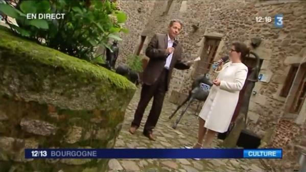 Vvl 4 france 3 bourgogne francois marie lapchine mit der malerin verena von lichtenberg eine kunstausstellung mit catherine gras und cecile zicot